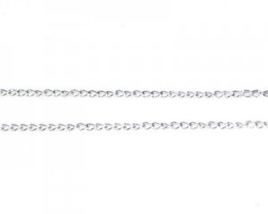 "1mm Silver Link Chain, 40"" length"
