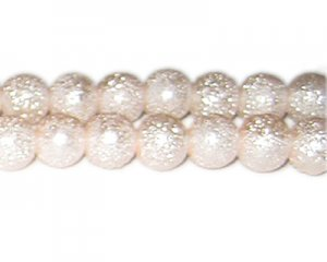12mm Baby Pink Rustic Glass Pearl Bead, approx. 17 beads