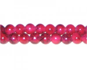 8mm Cherry Quartz-Style Glass Bead, approx. 55 beads