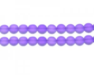 10mm Deep Purple Sea/Beach-Style Glass Bead, approx. 16 beads