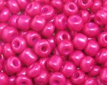 6/0 Fuchsia Opaque Glass Seed Bead, 1oz. bag