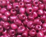 6/0 Ruby Metallic Glass Seed Bead, 1oz. bag