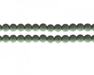 8mm Pale Green Rustic Glass Pearl Bead, approx. 56 beads