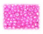 6/0 Fuchsia Ceylon Glass Seed Beads, 1 oz. bag