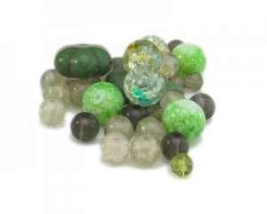 Approx. 1.5 - 2oz. Spring Field Bead Mix