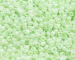11/0 Soft Green Ceylon Glass Seed Bead, 1oz. bag