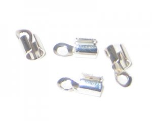 4 x 8mm Silver Terminators - approx. 34