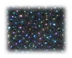 6/0 Black Rainbow Luster Glass Seed Beads, 1 oz. bag