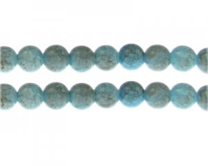 10mm Larimar Duo-Style Glass Bead, approx. 16 beads