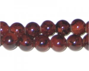 12mm Chalcedony-Style Glass Bead, approx. 18 beads