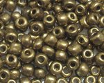 6/0 Bronze Metallic Glass Seed Bead, 1oz. bag