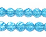 10mm Turquoise Fire Polish Bead, approx. 32 beads