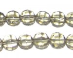 10mm Round Silver Fire Polish Glass Bead