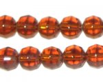 10mm Golden Brown Round Fire Polish Glass Bead