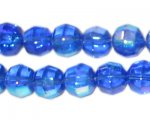 10mm Royal Blue Fire Polish Bead, approx. 32 beads