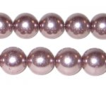 "12mm Round Mink Glass Pearl Bead, 8"" string, approx. 18 beads"