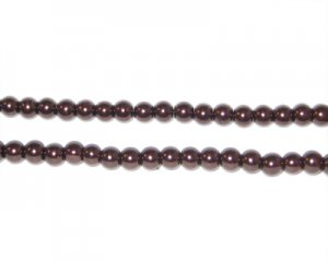4mm Chocolate Glass Pearl Bead, approx. 113 beads