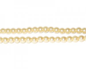 4mm Ivory Glass Pearl Bead, approx. 113 beads