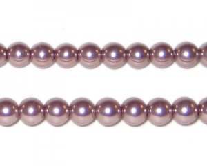 6mm Round Mink Glass Pearl Bead, approx 78 beads