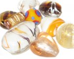 Approx 1.5oz. Gold Lampwork Mix1