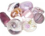 Approx 1.5oz. Purple Lampwork Mix1
