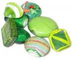 Approx 1.5oz Green Lampwork Mix1