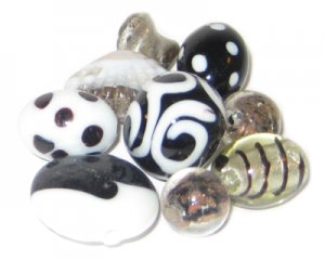 Approx 1.5oz. Black Lampwork Mix1