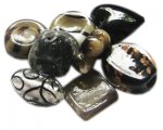 Approx 1.5oz. Black Lampwork Mix2