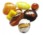 Approx 1.5oz. Gold Lampwork Mix2