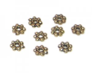 4mm Gold Metal Spacer Bead - approx. 20 beads