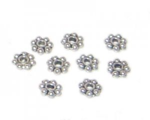 4mm Silver Metal Spacer Bead - approx. 20 beads
