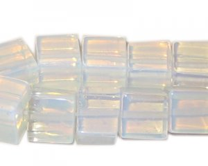 10mm Cube Moonstone Bead, approx. 9 beads