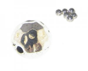 6mm Silver Metal Spacer Bead, 6 beads
