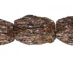 28 x 16mm Copper Log NatureLine Bead, 4 beads