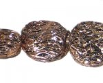 24mm Copper Round NatureLine Bead, 7 beads