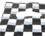 "8 x 6"" Black/White Checkered Plastic Gift Bag, 10 bags"