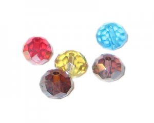 8 x 10mm Mix Rondelle Crystal Beads - 10 beads