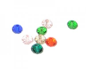 4 x 6mm Mix Rondelle Crystal Beads - 15 beads