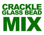 Mystery Bag of approx. 2oz. Mix Crackle Glass Beads