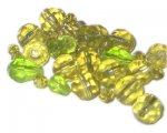 Approx. 1oz. x 8mm Apple Green Hues Faceted Crystal Bead