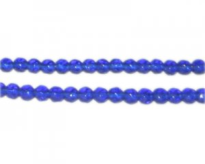 "4mm Navy Faceted Round Glass Bead, 12"" string"