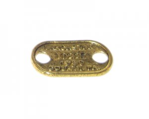 28 x 16mm Antique Gold 1950 Pendant / Link - 3 links