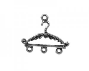 20 x 24mm Silver Hanger Metal Pendant / Chandelier -3 pendants