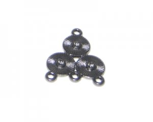 20 x 24mm Black Chandelier - 2 chandeliers, fits 2mm rhinestone