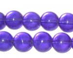 "12mm Purple Round Pressed Glass Bead, 8"" string"