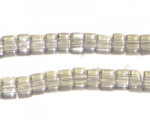 4mm Gray Cube Pressed Glass Bead