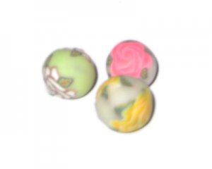 16mm Color Rose Polymer Clay Bead, 10 beads