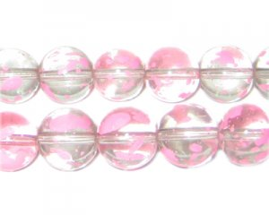 12mm Carnation Spray Glass Beads, approx. 18 beads