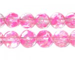 12mm Peony Spray Glass Beads, approx. 18 beads