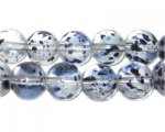 12mm Iris Spray Glass Beads, approx. 18 beads
